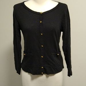 J. Crew Painter Tee cardigan gold buttons small
